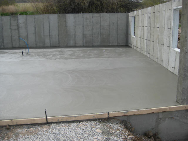 Pouring concrete garage floor rachael edwards for House foundation on slope