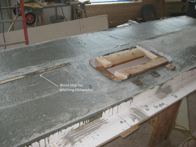 Amazing Dishwater To Concrete Countertop