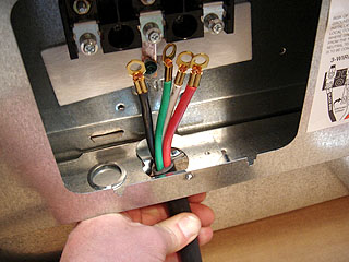 how to wire stove installing power cord on new stove