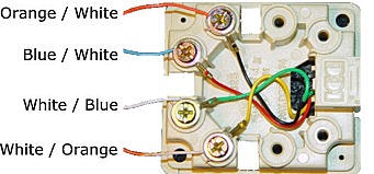 cat 3 wiring diagram wall jack phone wiring  phone wiring