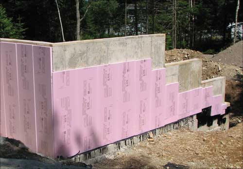 Concrete foundation for Insulated concrete foam