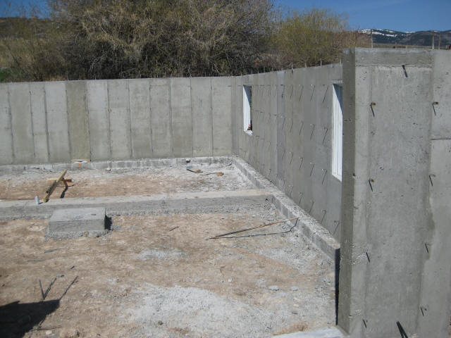 Concrete foundation for Poured wall foundation