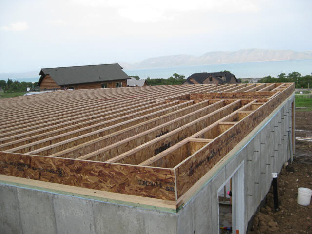 Wooden floor framing for Floor joist construction