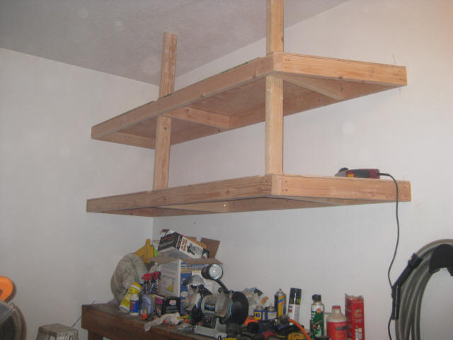 pictures of the finished garage shelves that I built. These shelves ...