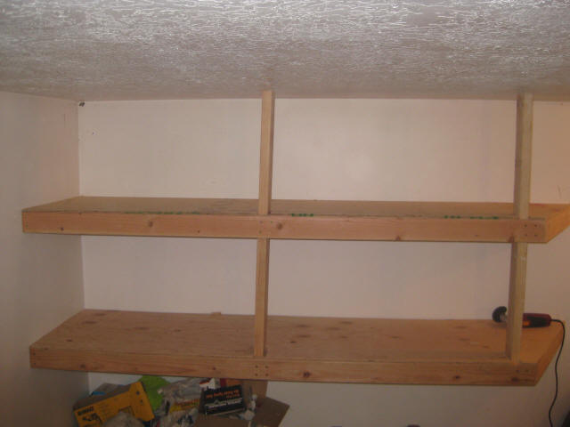 ... garage with some usage built inwards shelving custom garage shelving