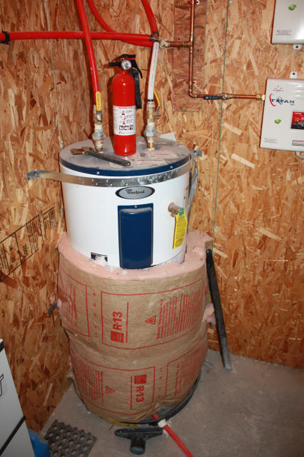 Pex hot water heater connection