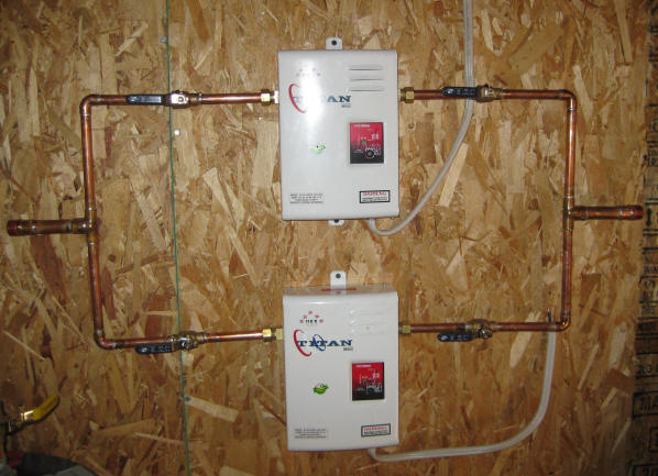 installing natural gas tankless hot water heater