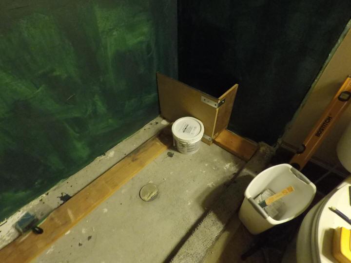 Concrete Shower Bench Construction