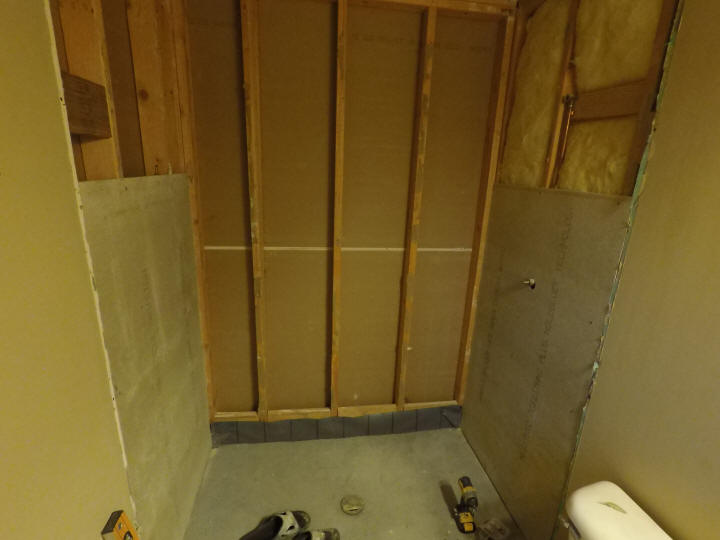 How to install shower backerboard hardieboard cement for Drywall or cement board for shower