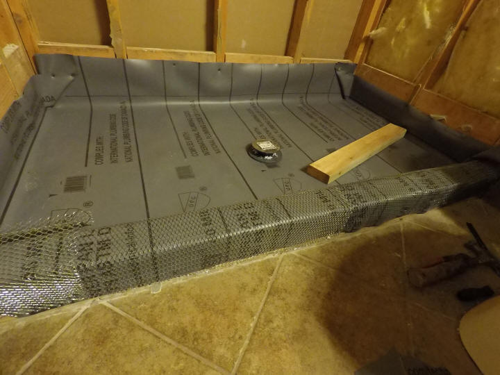 Shower Pan Liner And Drain Diy