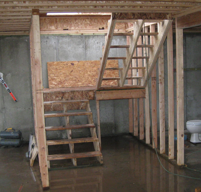 Stairwell framing joy studio design gallery best design for Basement framing calculator